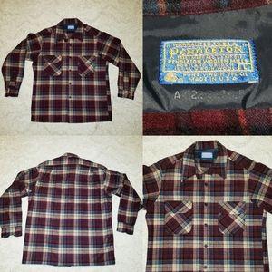 Vintage Pendleton Virgin Wool Plaid Flannel Lumber